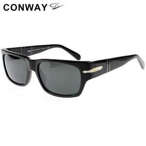 Conway Brand Design Sunglasses Nerd Square Wide-Frame Havana Black Personal Acetate Men