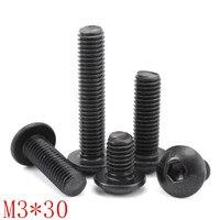50pcs Grade10.9 m3x30 M3*30 iso7380 allen head screw  hex socket button head screw|Screws|Home Improvement -
