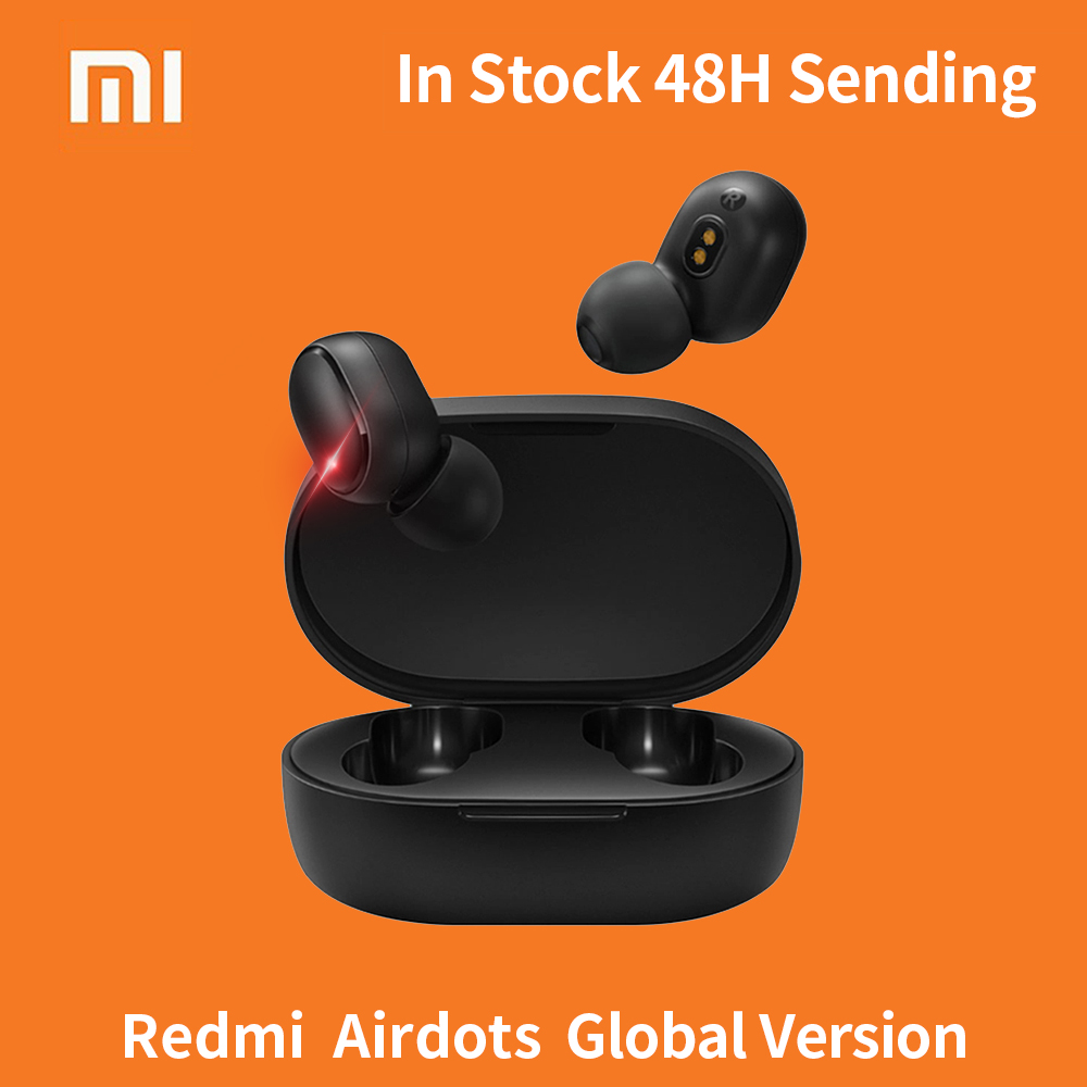 Xiaomi Redmi Airdots TWS Bluetooth 5.0 Earphone Stereo Wireless Active Noise Cancellation With Mic Bluetooth Earbuds AI Control image