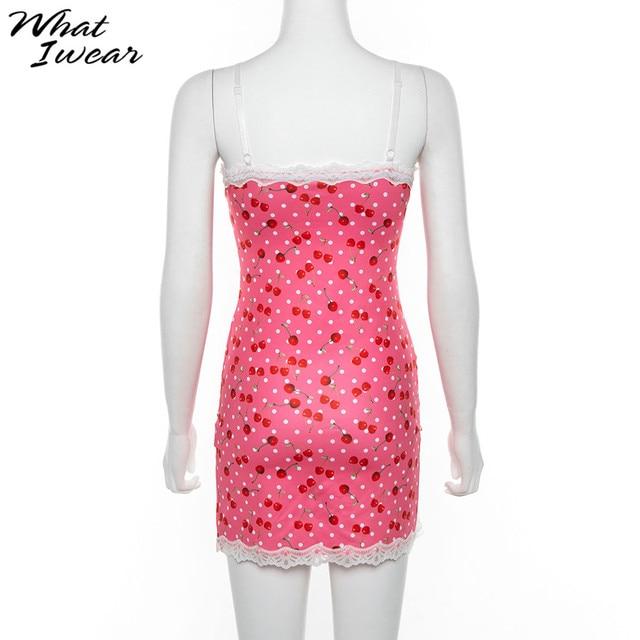 Lace Up Cherry Dot Dress 6