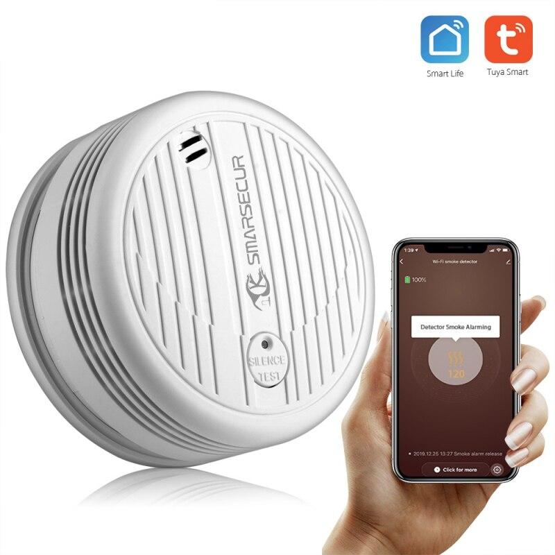 Система пожарной безопасности Tuya, Wi-Fi детектор дыма для дома