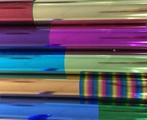 Image 5 - Бесплатная доставка, 25 см x 100 см, металлик и лазер, теплопередача, винил, камуфляж, радуга, термоклейкая пленка, футболка, пленка
