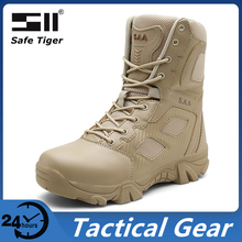 Tactical-Boots Military-Shoes Waterproof for Men Outdoor Hunting Hiking Combat Mid-Top