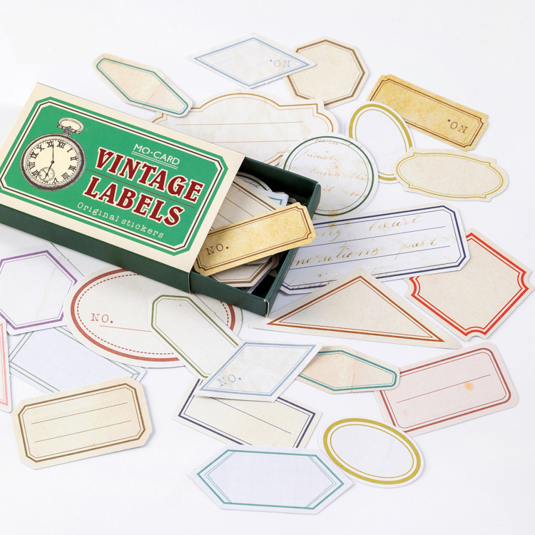 Mohamm Retro Pragmatism Matchbox Boxed Sticker Pack Handbook Journal Diary Decorative Paper Scrapbooking Diy Craft Stationery