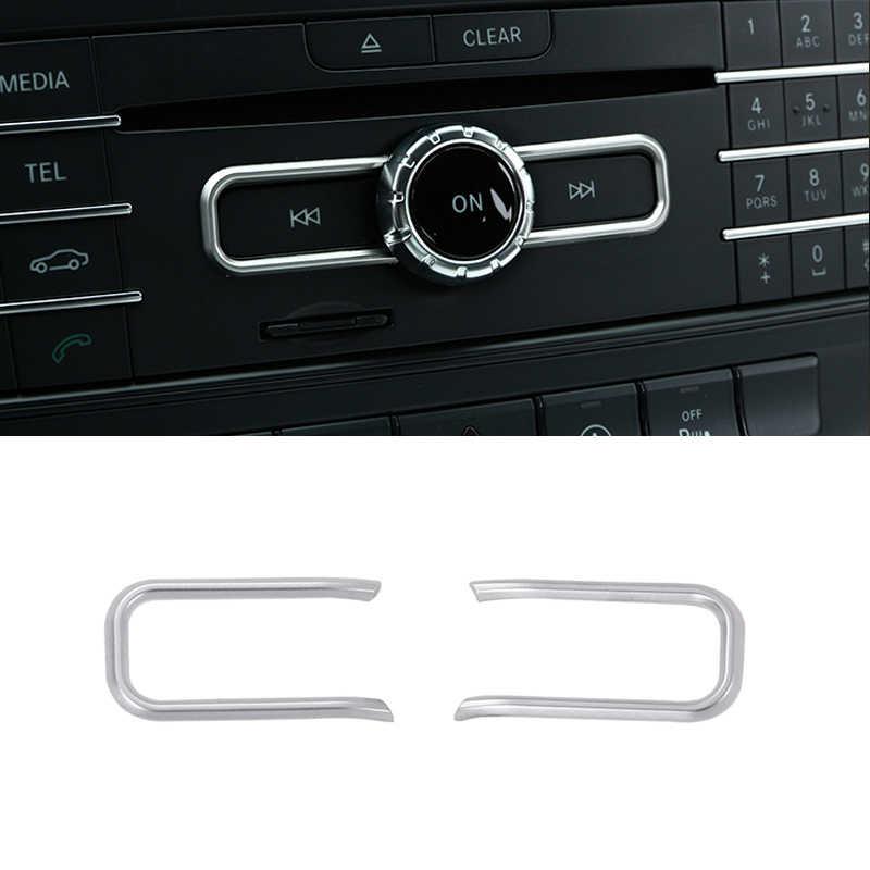 Para un Mercedes Benz B de la CIA GLA clase W176 A180 C117 X156 2 piezas coche Centro de Control CD Panel Cover protección Trim