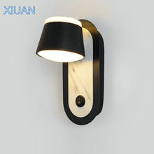 Scandinavian Modern Bed Side Wall Lamp with ON/OFF Switch AC 110V-220V Gold White Black Wall Mount Lamp Living room Home LED(China)