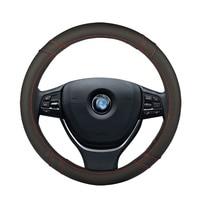 Car Steering Wheel Cover leather Auto Interior Accessories for mitsubishi outlander 3 xl nissan almera n16 g15 classic