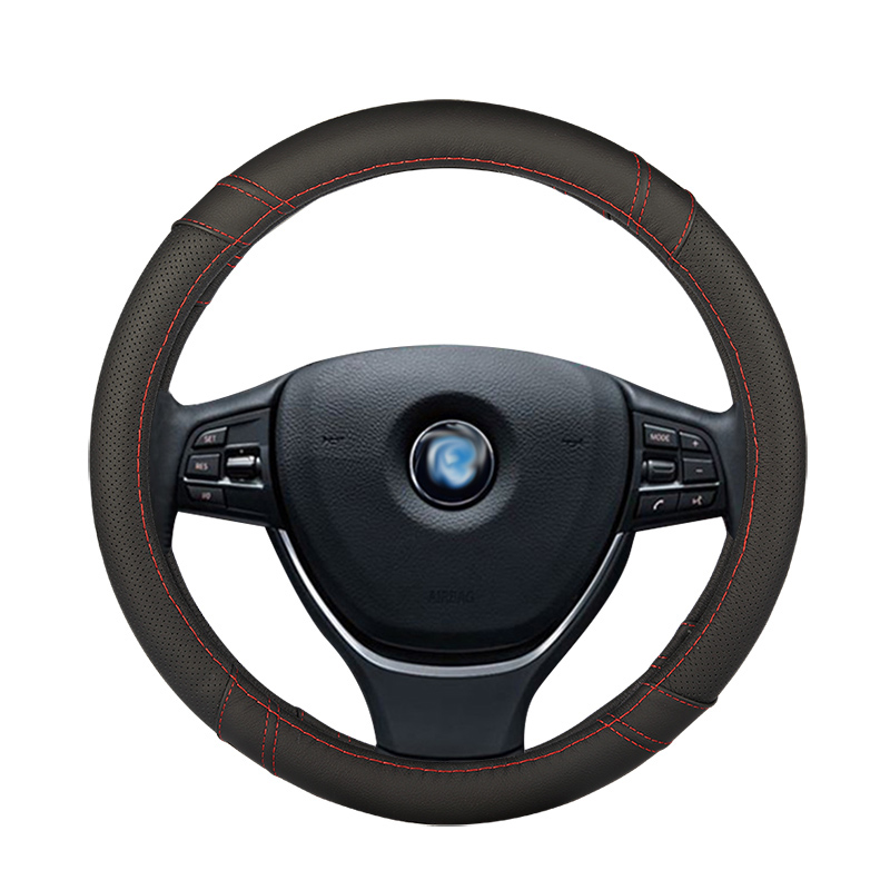 Car Steering <font><b>Wheel</b></font> Cover leather Auto Interior Accessories for mercedes benz class e w210 t210 w211 t211 w212 w213 <font><b>w124</b></font> image
