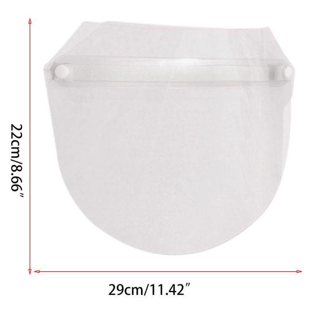 Protective Adjustable Anti-saliva Dust-proof Full Face Cover Mask Visor Shield 5