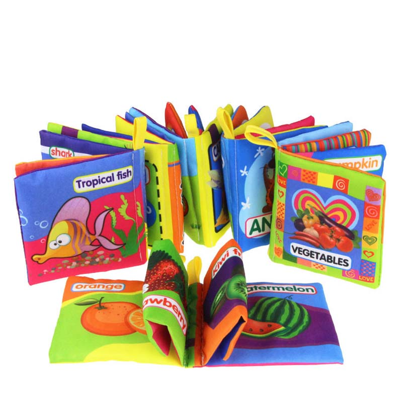 Soft Cloth Books For Baby Boy/Girls 0-12 Month Baby Rattle Toy Crib Infant Kids Early Development Toys Educational Toddler Books