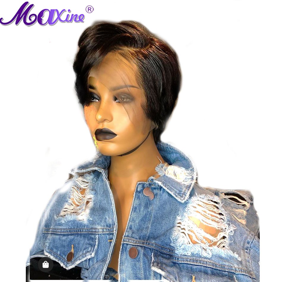 Image 4 - Maxine Pixie Cut Wig 13x4 Short Bob Lace Front Human Hair Wigs Pre Plucked With Baby Hair For Black Women 150 Density-in Human Hair Lace Wigs from Hair Extensions & Wigs
