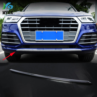 for Audi Q5L 2018 2019 Exterior front Lower Bumper Guard Molding Trim Frame Cover ABS Matte silver Auto Styling sticker