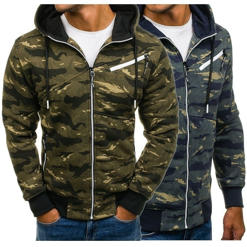 ZOGAA Autumn Mens Military Camouflage Jacket Army Tactical Clothing Male Windbreaker Zipper Polyester Men Hoodie Jacket Coat in Jackets from Men 39 s Clothing