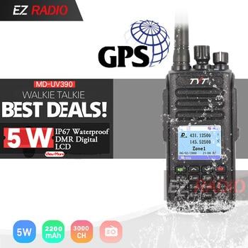 TYT MD-UV390 DMR רדיו GPS עמיד למים IP67 ווקי טוקי שדרוג של MD-390 דיגיטלי רדיו MD UV390 Dual Band VHF UHF TYT רדיו