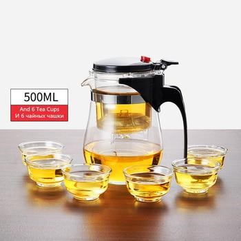 Théière en verre résistant à la chaleur, tasses de thé, 9