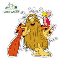 EARLFAMILY 13cm x 12.9cm Captain Caveman Kids Cartoon Funny Car Stickers Oem Anime Vinyl JDM RV VAN DIY Fine Decal Accessories
