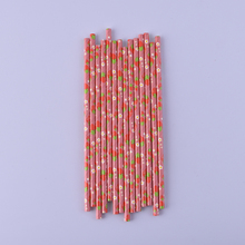 25pcs Gold Silver Heart Star Foil Stripe Paper Straws Kids Birthday Wedding Party Baby Shower Decoration Event Supplies Drinking