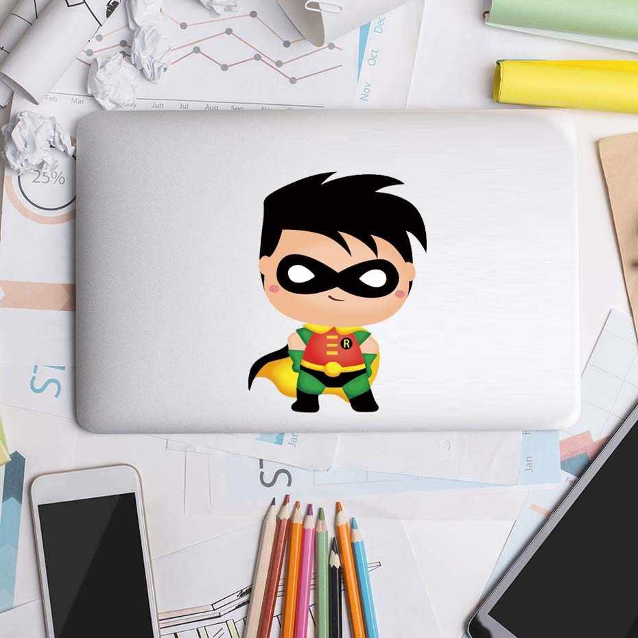 Pegatina de Batman para puerta, superhéroe de dibujos animados, pegatina artística, decoración para ordenador portátil, coche, ventana, inodoro, habitación infantil, vinilo, mural para el hogar, decoración