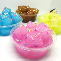Coconut Fruit Crystal Mud Clay Slime Putty Plasticine Sludge Stress Relief Toys nonirritating to the skin or eyes