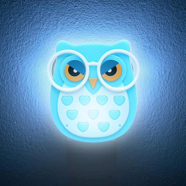 Фото светодиодная настенная лампа в виде совы для детей светильник