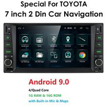 7 ''Android 9 Voor Toyota RAV4/Hilux/Camry/Corolla/Terios Ondersteuning 2 Din 4 Core auto Radio Multimedia Stereo Gps Wifi 4G Swc Bt Gps(China)