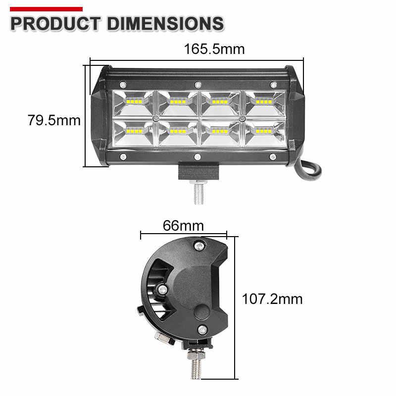 7 Inch 32W LED work Light Wide Flood Beams For 4X4 Offroad Trucks Motorcycle Fog Lamp 12V 24V Driving Work External Lights