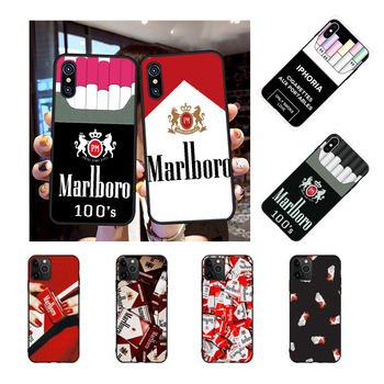 NBDRUICAI cigarrillo de hierba fumar lujo diseño único teléfono cubierta para iPhone 11 pro XS MAX 8 7 6 6S Plus X 5S SE XR funda