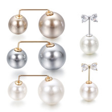 1Pcs Simple Double Pearl Sweater Brooch Collar Needle Safety Pin Pins Clothing Accessories Brooches for Women Jewelry(China)