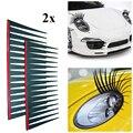 2 шт./компл. наклейки для автомобильных фар, 3D очаровательные черные накладные ресницы, украшение для автомобильной фары, забавная наклейка