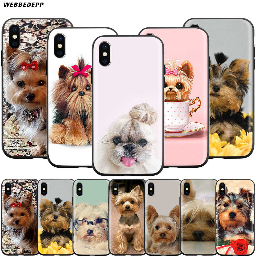 Webbedepp Yorkshire Terrier etui na psa dla Apple iPhone 11 Pro XS Max XR X 8 7 6 6S Plus 5 5S SE