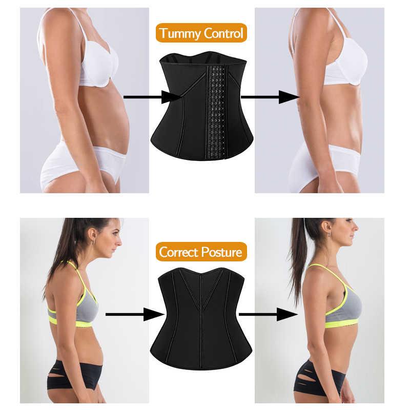 Mulheres cintura trainer trimmer espartilho fitness emagrecimento cinto corpo shaper perda de peso sauna suor esportes cintas ginásio cintas modelagem