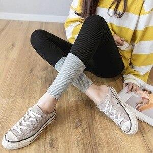 Image 3 - 2019 Nova Moda Primavera E No Verão das Mulheres de Alta Elasticidade E Boa Qualidade de Fitness Fino Capris Calças Leggings De Algodão Streetwear