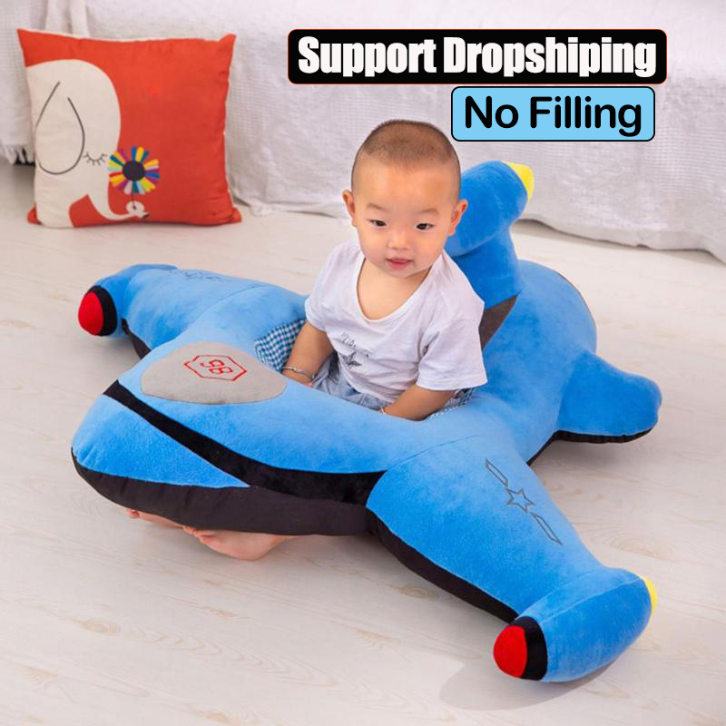Cartoon Airplane Baby Sofa Cover Learning To Sit Infant Feeding Chair Cover Sofa Skin For Toddler Soft Seat Case Without Filler