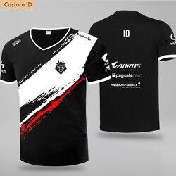 LOL CSGO G2 Esports Team T Hemd Uniform Jersey 2019 V-neck Print Short Polyester Regular Youthful Vitality Cotton T-shirt