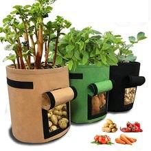 Saco de crescimento da planta do agregado familiar jardim batata morango vegetal estufa cultivo bacia umidificação vertical reutilizável