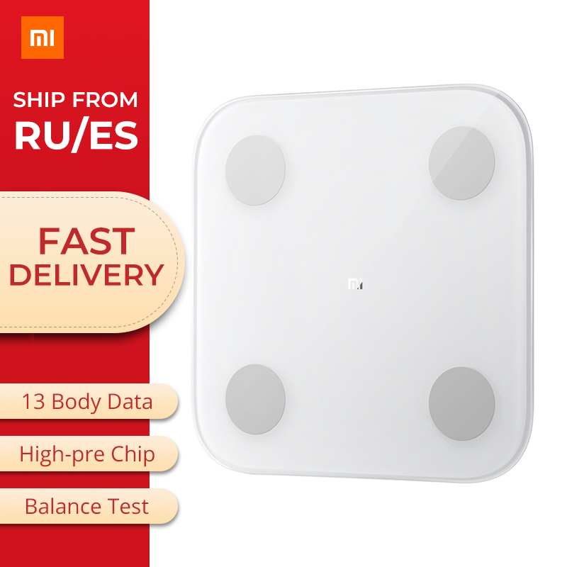 Original Xiao mi graisse corporelle intelligente 2 mi Composition échelle Bluetooth 5.0 Balance Test corps Date B mi santé Balance moniteur