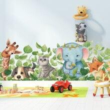 Мультяшная Милая животная Наклейка на стену 112*38 см, плинтус, декор для детской стены, украшение для детской комнаты, сделай сам, постеры, нас...