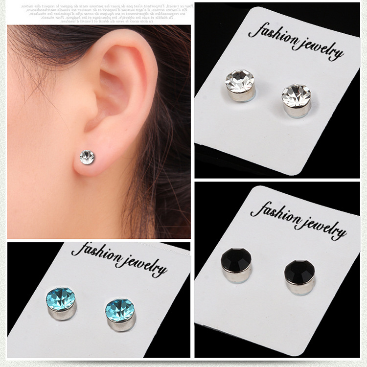 2pc Magnetic Slimming Earrings Weight Loss Acupoints Stud  Magnetic Therapy Crystal Earring Fat Burning Slimming Face Lift Tools