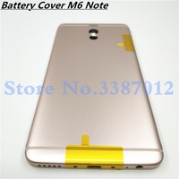 M6Note 원래 주택 Meizu M6 참고 금속 배터리 뒷면 커버 휴대 전화 교체 부품 케이스 + 버튼 렌즈