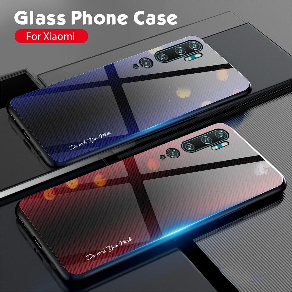 Stripe Glass Case For Xiaomi Redmi Note 8 7 6 5 K20 Pro Note 8T 8 8A 7 7A K20 Mi 9 SE 9T CC9 Pro CC9E Mi 9 A3 Lite Case Capa