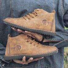 2019 Winter Shoes Men Warm Boots Men Fur High Quality Split Leather Wterproof