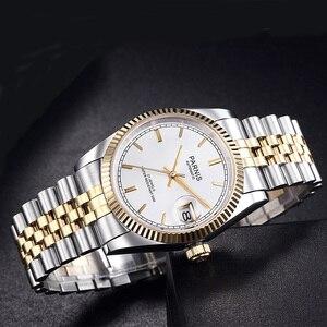 Image 4 - Parnis นาฬิกาผู้ชาย 2020 แบรนด์หรูทองอัตโนมัตินาฬิกาผู้ชายผู้หญิงเพชรสร้อยข้อมือสแตนเลสนาฬิกา