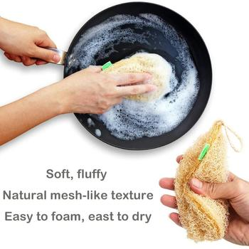 Eco Kitchen Sponge New Pure Handmade Multilayer Natural Loofah Scrubber Anti-oil Durable And Easy To Use Dish Cleaning Brush 2