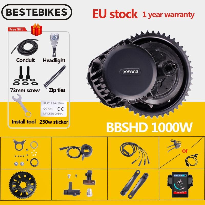 Bafang мотор BBSHD BBS03 48V 52V 1000W мотор среднего привода 8fun Электрический велосипед Ebike набор для преобразования электровелосипеда двигатель для ве...