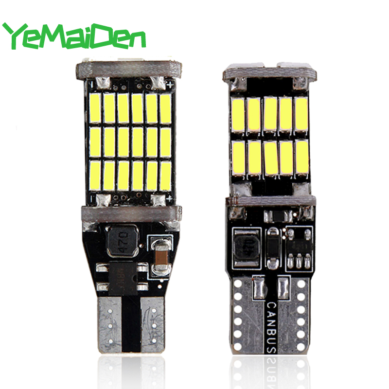 1x High Power <font><b>T10</b></font> <font><b>W5W</b></font> LED Bulb T15 W16W LED Light <font><b>Canbus</b></font> No error Super Bright Car Turn Signal Reverse Wedge SIde Light <font><b>4014</b></font> SMD image