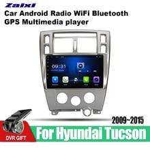 ZaiXi Android Car 2 din multimedia GPS Navigation For Hyundai Tucson 2009~2015 vedio stereo Radio audio wifi video map video