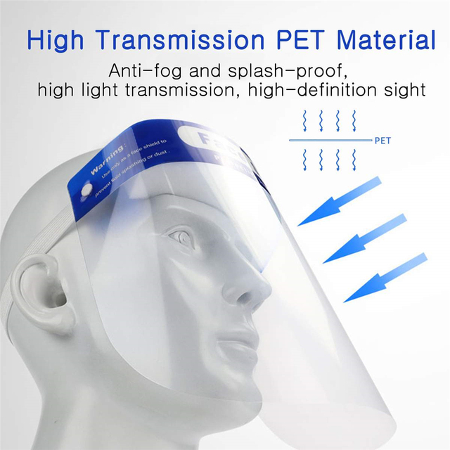 Fast Delivery Clear Face Shield Screen Mask Visor Eye Protection Anti-fog Protective Prevent Saliva Splash Mask Dropshipping 4