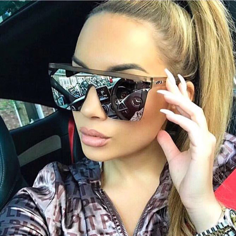 LS JOHN Oversized Square Sunglasses Women 2020 Fashion Shades For Women Retro Sun Glasses Women Big Frame Vintage Eyewear UV400