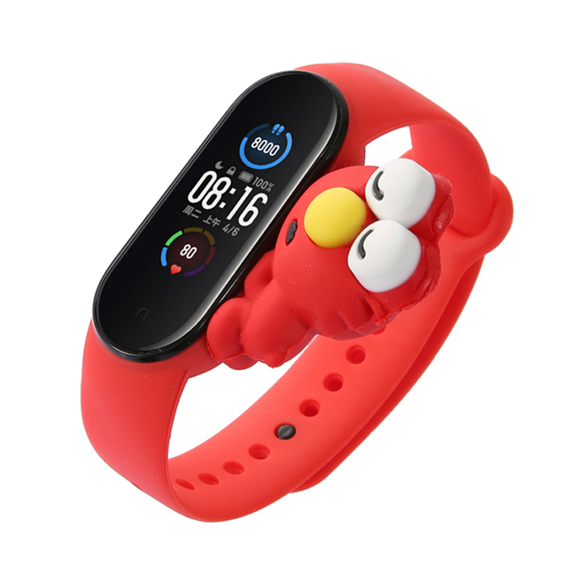 Cartoon Strap For Xiaomi Mi Band 5 6 for Smart Watch Wrist M3 M4 Bracelet For Xiaomi MiBand 5 6 for Mi band 4 Strap Replacement 2