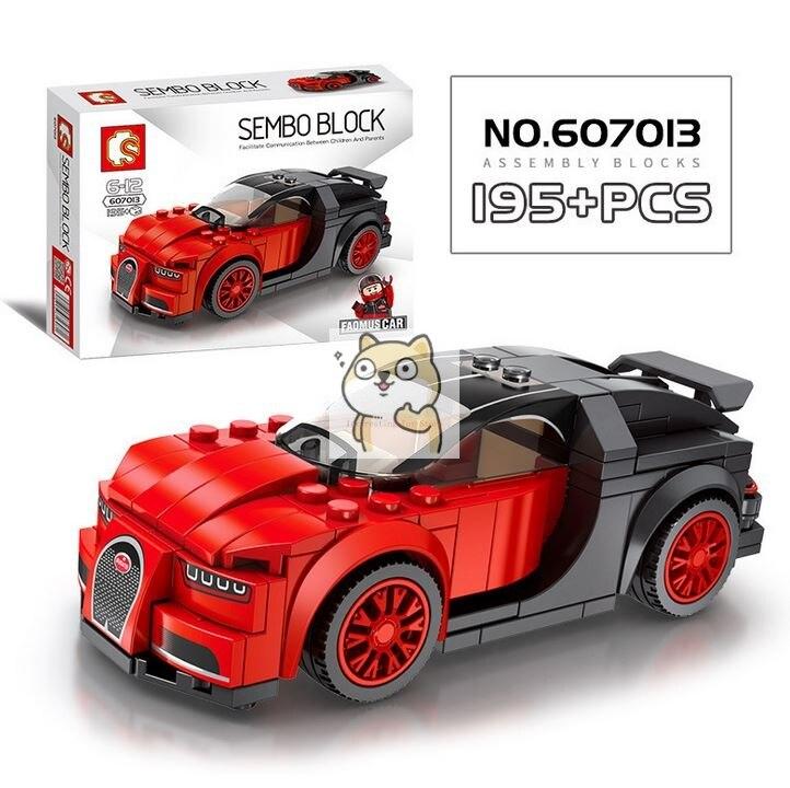 Детские сборные игрушки знаменитый автомобиль супер бегущий гоночный маленькие частицы Волшебные блоки для сборки конструктор-головоломка - Цвет: 013